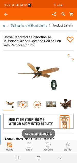 Home Decorators Collection Altura 56 in. Indoor Gilded Espresso Ceiling Fan with Remote Control for Sale in Dallas, TX