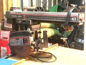 "CRAFTSMAN 10"" RADIAL(LONG)ARM SAW W/BASE for Sale in Virginia Beach, VA"