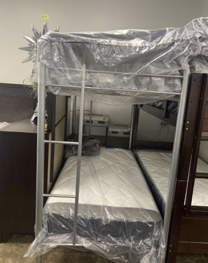 Twin bunk bed with mattress included for Sale in Fort Worth, TX