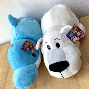 NEW Flip A Zoo Plush Toy Lot Of 2, Harper Dauphin / Willow Walrus And Poppi Polar Bear / Asher Husky Stuffed Animals for Sale in Elizabethtown, PA