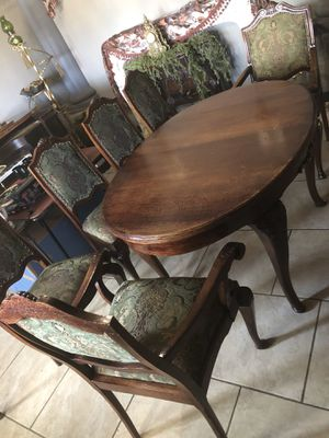 Antique dining room table with 6 chairs for Sale in Phoenix, AZ