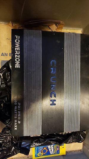 Crunch powerzone pzi 250.2 1000w car stereo amplifier for Sale in Everett, WA