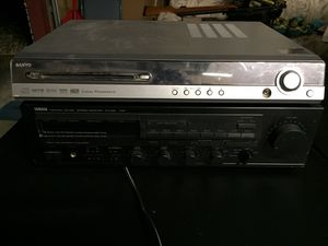 Sanyo DVD player with surround hook ups and Yamaha receiver for Sale for sale  Starke, FL