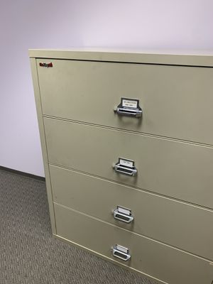 Fire king lateral file cabinet - needs a new lock for Sale in Manhattan Beach, CA