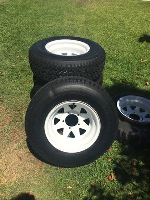Jeep wheels 4 plus spare $350 obo for Sale in Phoenix, AZ