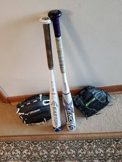 SOFTBALL FASTPITCH BATS AND GLOVES for Sale in Seattle,  WA