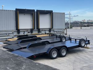Car hauler, car trailer , you hauler, side by side trailer , Atv trailer equipment trailer, bobcat trailer, trailer for Sale in Hialeah, FL