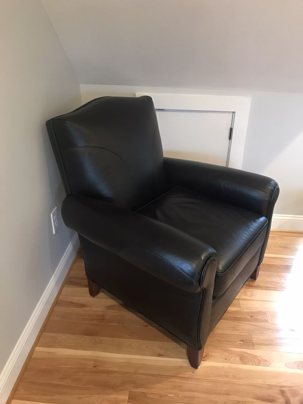 Leather chair and ottoman like new