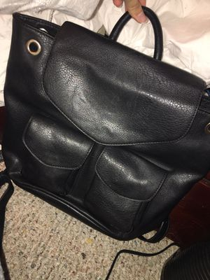 Black leather backpack for Sale in San Diego, CA