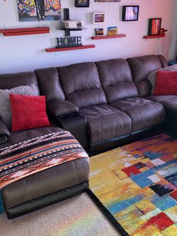 Micro Suede Reclining Couch Includes 3 Yrs Warranty for Sale in Orlando,  FL