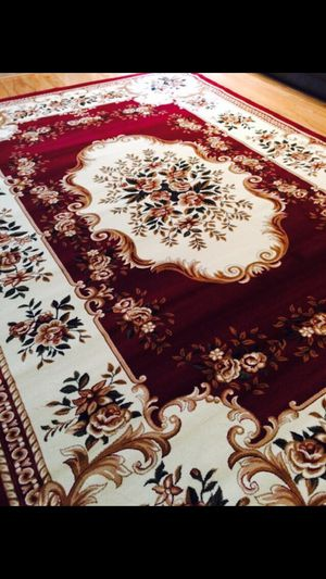New red ivory rug size 8x11 nice carpet Persian abusson style rugs for Sale in Fairfax, VA