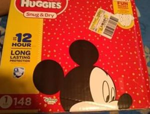 Huggies snug and dry size 1 , 148 count diapers for Sale in San Diego, CA