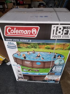 "Coleman 18ft by 48"" Power Steel Swim Vista Series II Swimming Pool Set for Sale in Portland, OR"