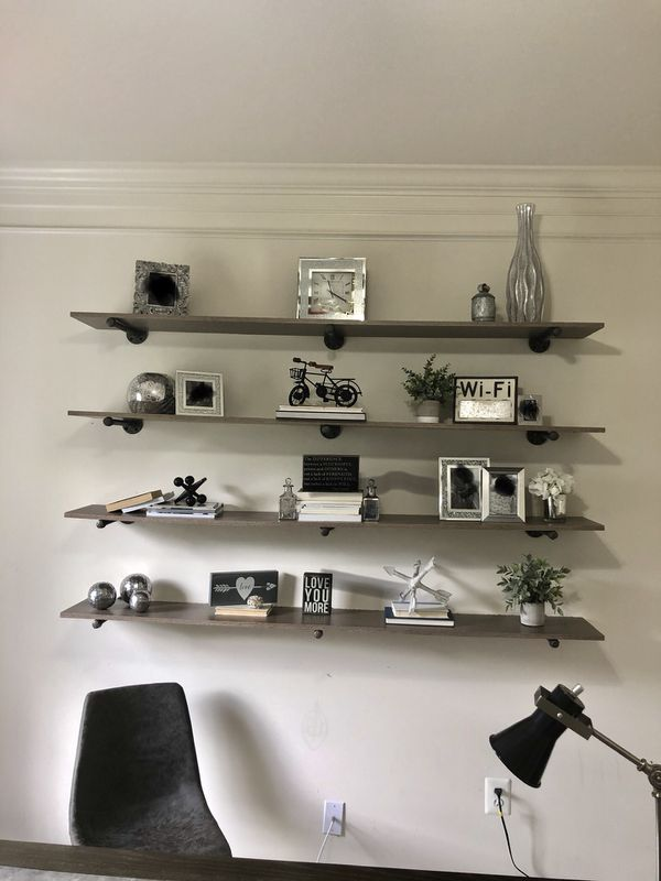 Shelves and pipes decor, home decor, office decor