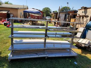 5 ft 8 ft metal shelving for Sale in Woodville, CA