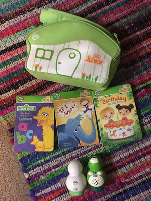 Leap Frog Tag Junior 3 books, two handheld readers and case for Sale in Santa Ana, CA