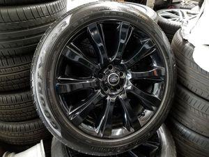 "Original 21"" Range Rover Black Factory Wheels Rims Tires NICE for Sale in Los Angeles, CA"