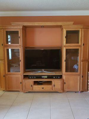 Oak entertainment center for Sale in Port St. Lucie, FL