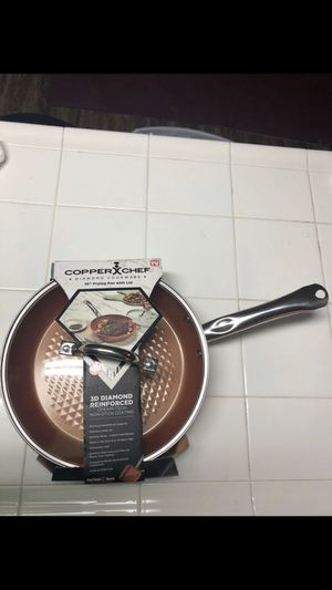 """NEW Copper Chef Diamond Cookware 10"""" Frying Pan with Lid for Sale in Las Vegas, NV"""