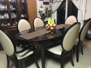 Kitchen table with 6 chairs with Extension for Sale in Castro Valley, CA