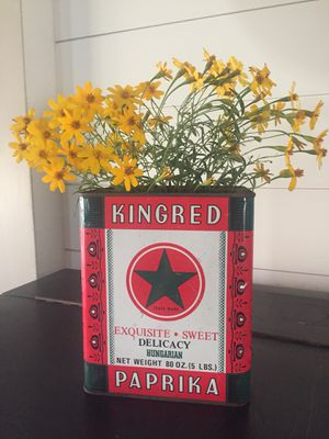 Vintage metal Paprika Tin - red/green for Sale in Brea, CA