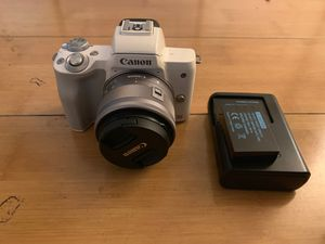 Canon m50 m 50 DSLR Camera 15-45mm lens for Sale in Oakland, CA