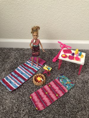 Skipper Barbie camping set and doll for Sale in Modesto, CA