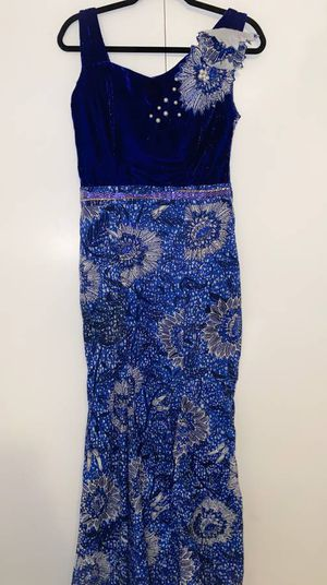 Blue African Print Dress M/L for Sale in Chevy Chase, MD