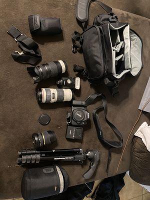 Canon-6D, 3 Lenses, tripod, external flash, and case for Sale in San Antonio, TX