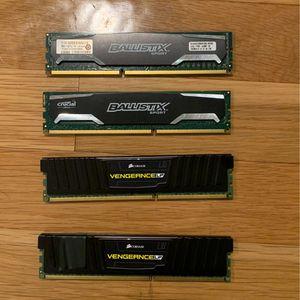 16 GB (2x4 + 2x4) DDR3 1600MHZ RAM for Sale in Belmont, CA