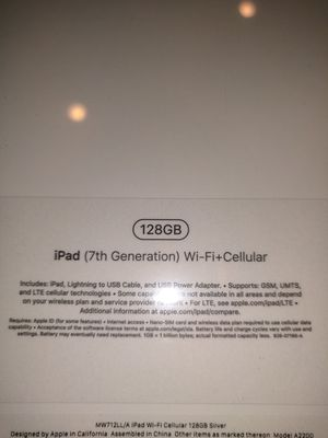 Brand new in sealed box, 2019 128 GB iPad cellular + wifi for Sale in Tysons, VA
