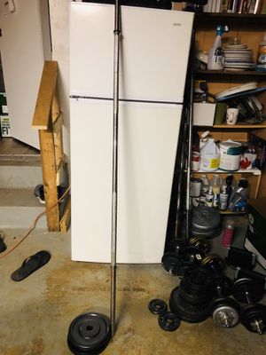 heavy duty barbell with 20lbs weights for Sale in Fort Washington, MD