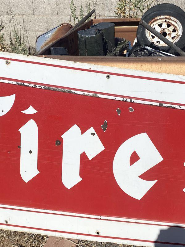 Enormous firestone porcelain sign