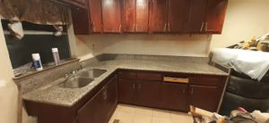 Kitchen cabinets and granite for Sale in Houston, TX