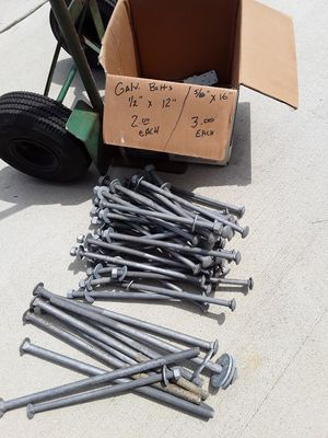 """GALVANIZED LAG BOLTS 1/2""""X 12"""" for Sale in Millsboro, DE"""