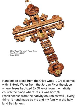 Hand made in Bethlehem the Holy land From the olive wood for Sale in Jacksonville, FL