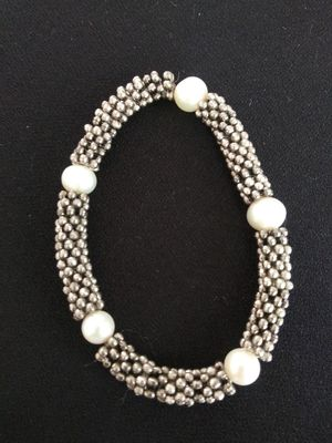 Sterling silver 925 AUTHENTIC PEARLS bracelet for Sale in Zionsville, IN