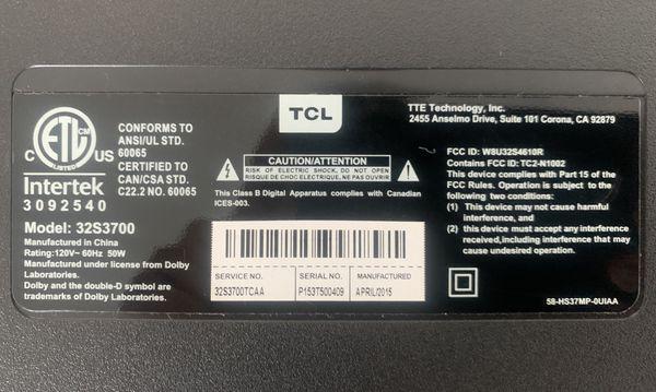 """TCL Roku 32"""" Smart LED TV"""