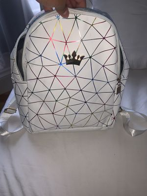 White small backpack with crown for Sale in Framingham, MA