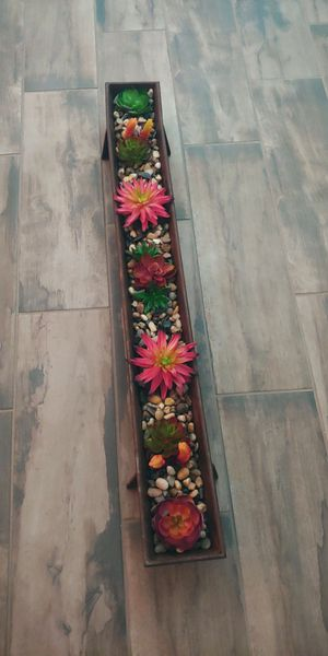 Narrow Rustic Succulent Tray for Sale in Goodyear, AZ