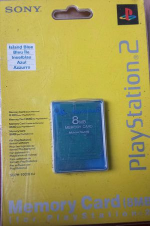 Brand new Authentic OEM factory sealed Sony PS2 Memory Card for Sale in Pawtucket, RI