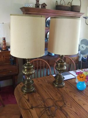 2 Matching Stiffel Brass Lamps - $30.00 for both for Sale in St. Louis, MO