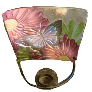 Home Decor One Painted Glass Table Candle Holddr And One Cfown Sconce Hook for Sale in Anaheim, CA