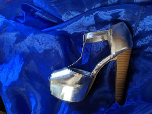 Silver heels for Sale in Los Angeles, CA