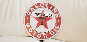 Brand new Texaco Motor Oil metal wall sign decoration. Officially licenses product of Chevron. Brand new gift quality for motorcyle or car garage for Sale in Ontario, CA