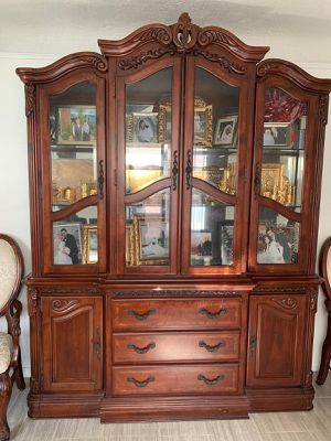 Antique china cabinet two pieces with tons of stoarage! for Sale in Dearborn, MI