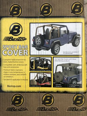 Bestop black vinyl rollbar cover for Jeep CJ series. Part# 80007-01 for Sale in Clearwater, FL