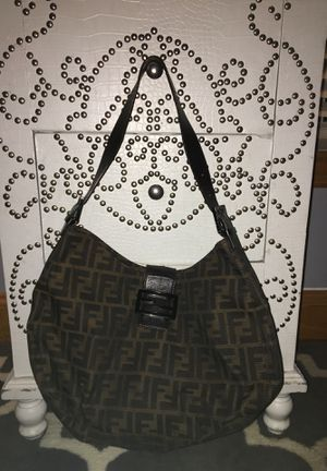 Authentic Vintage Fendi Bag with Inside Zipper Enclosure and Bronzed Brown Leather Straps for Sale in PA, US