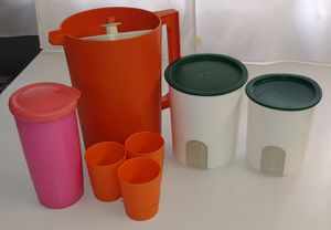 Tupperware Cups Storage Container Pitcher for Sale in San Diego, CA