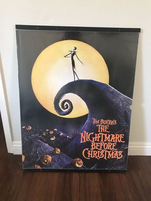 Tim Burton,s The Nightmare Before Christmas Framed Poster for Sale in Los Angeles, CA